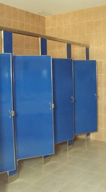 Mamparas Para Baño Acero Inoxidable:Mampara para baño suspendida azul de acero porcelanizado